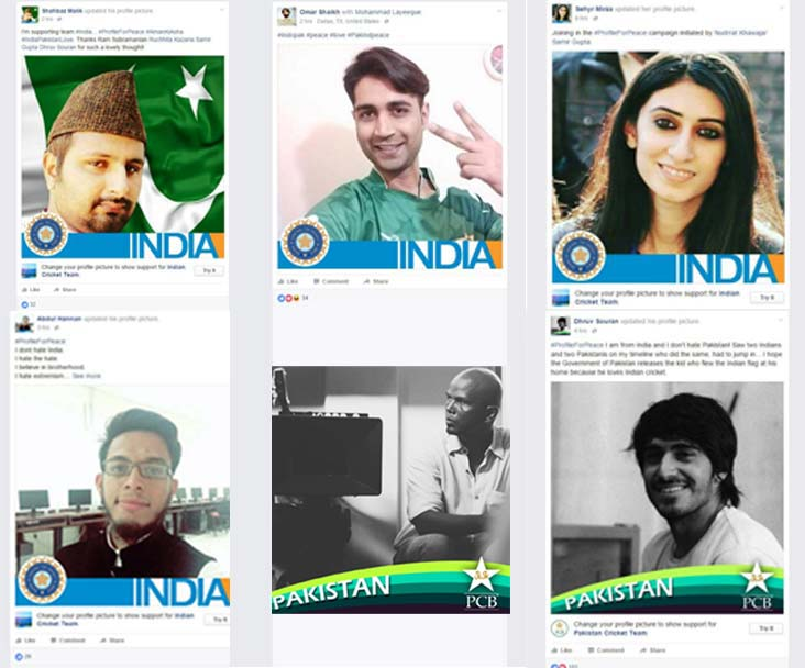 "Cricket crazy ""peace entrepreneurs"" bringing down the wall using #ProfileforPeace again"