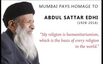 Multi-faith prayer meeting for Edhi in Mumbai