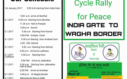 Kicking off the new year with a cycle rally for peace