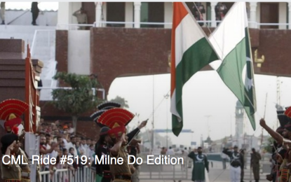 Pakistan cyclists support India's Milne Do group