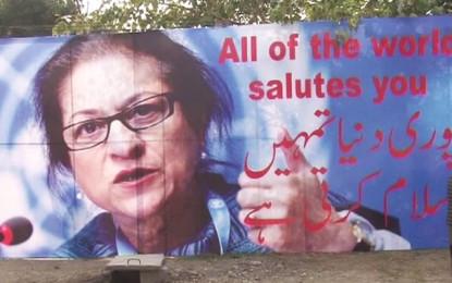 Peace activists in India honour Pakistani lawyer Asma Jahangir