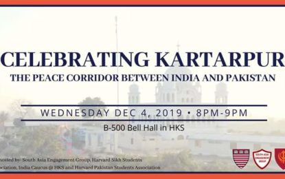 Student groups at Harvard Kennedy School to celebrate Kartarpur corridor