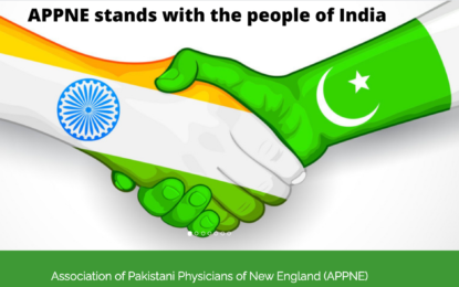 Pakistani-American physicians express solidarity with the people of India